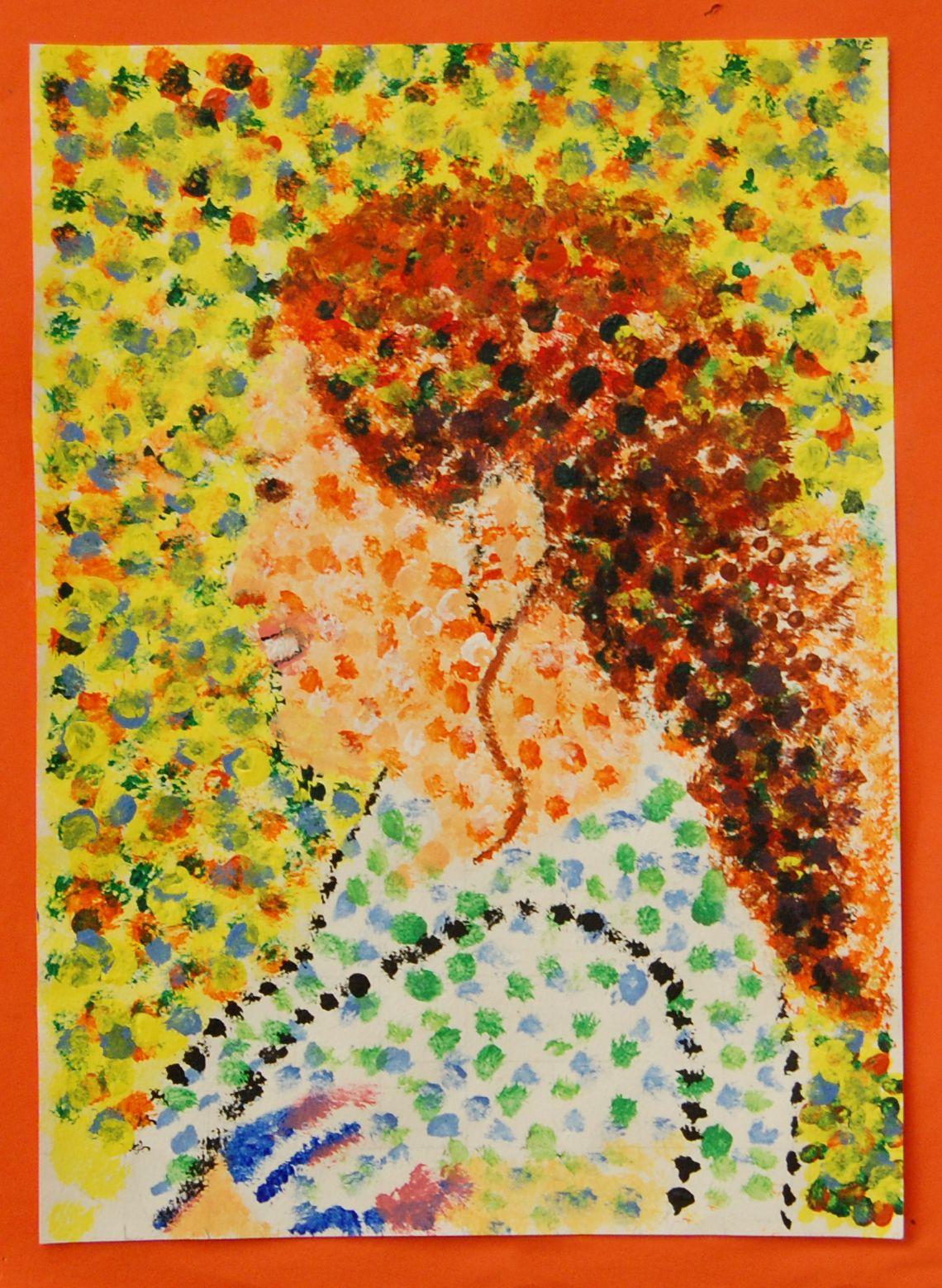 6th Grade Art Seurat S Pointillism Rye Middle School