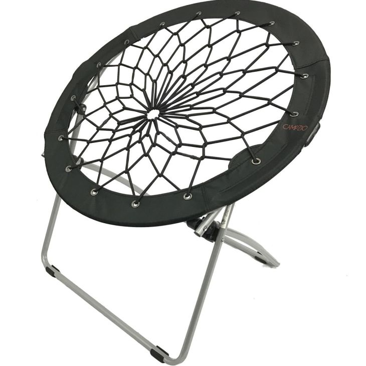 Campzio Bungee Chair Round Folding Comfortable Lightweight Portable