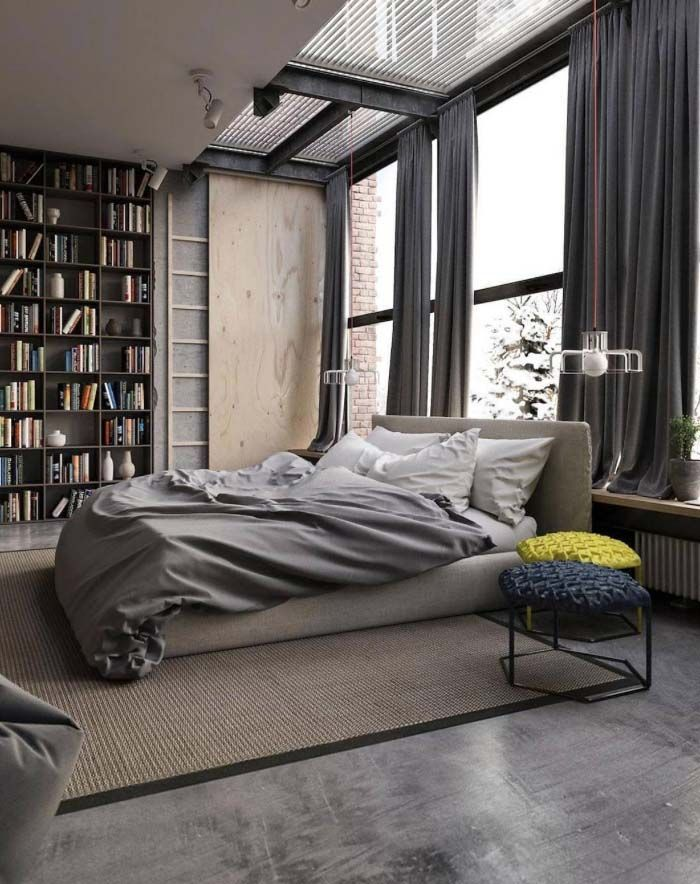 man cave // city life // urban men // bedroom // city style