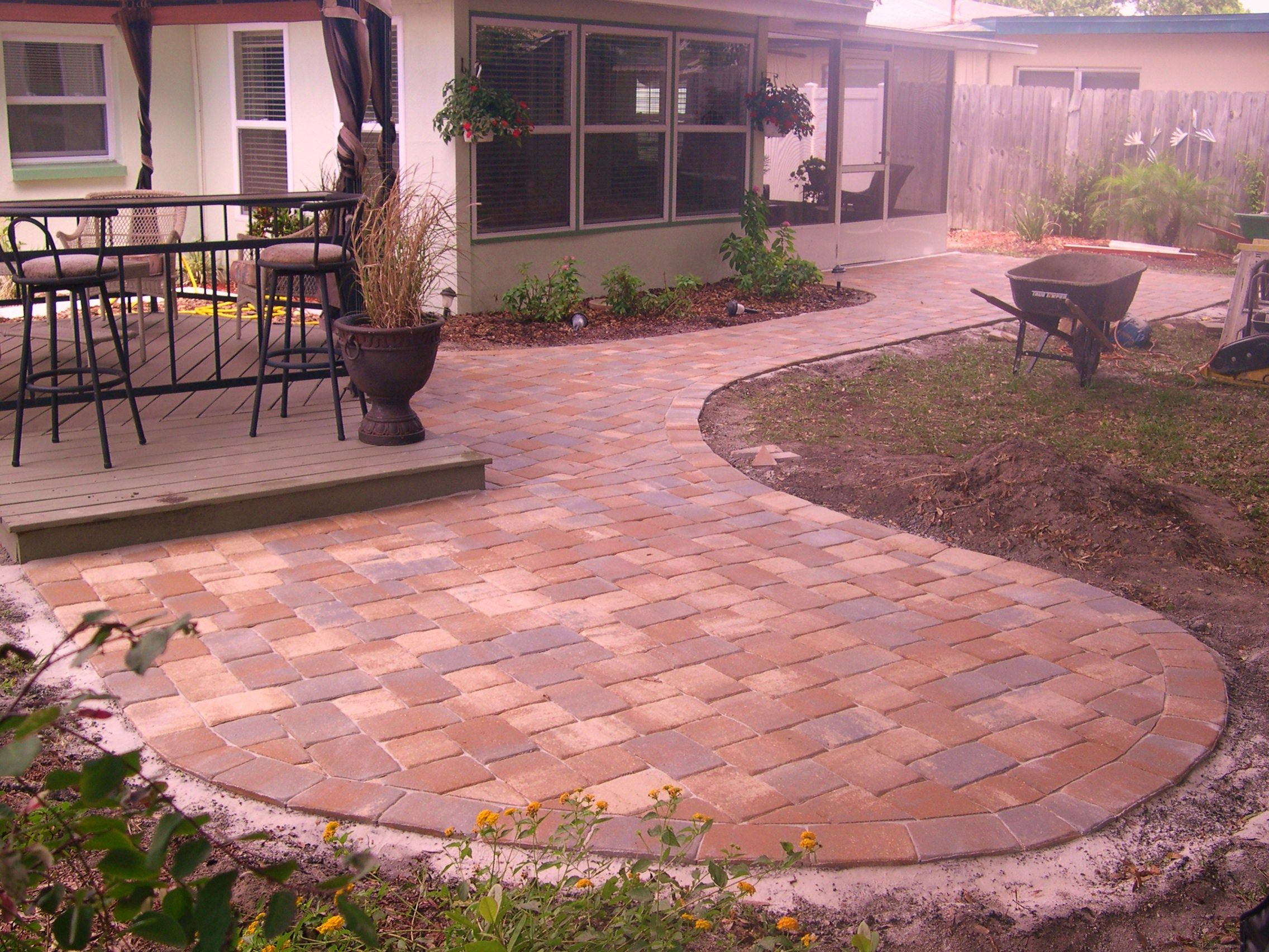 6 Backyard pavers | Backyard pavers, Backyard and Patios on Small Backyard Brick Patio Ideas  id=46306