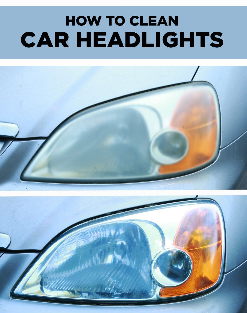 Dirty car headlights are no match for this clever cleaning
