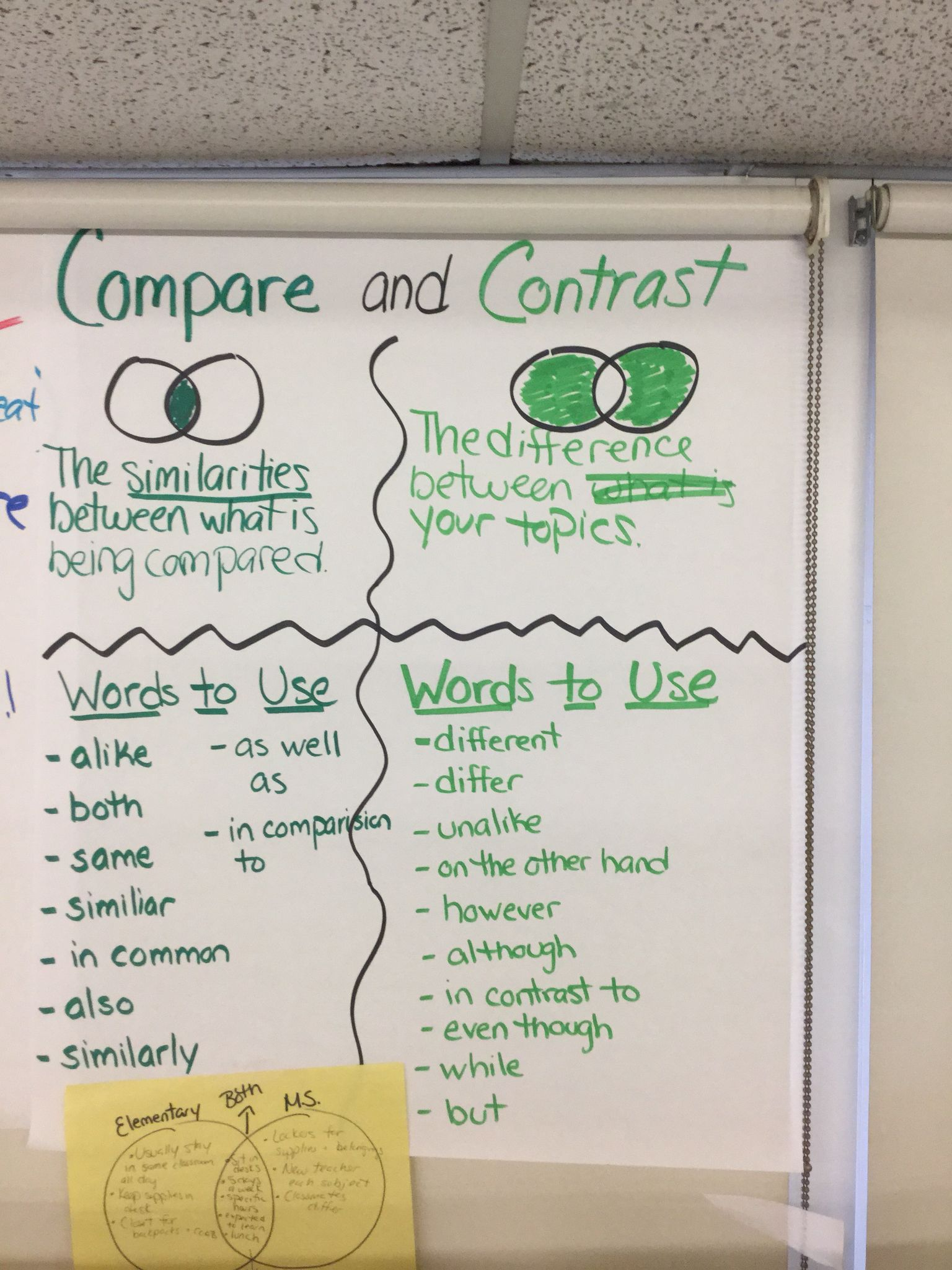 Compare And Contrast Essay Worksheets 5th Grade