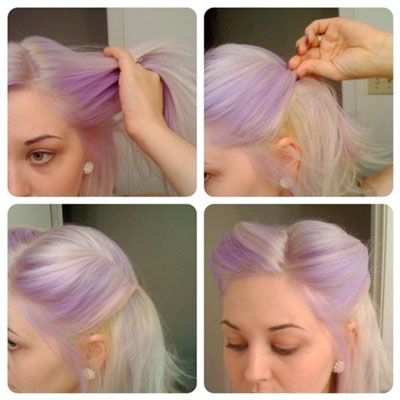 easy pin up hair tips and tricks not going to look as cool on non purple hair but i will try