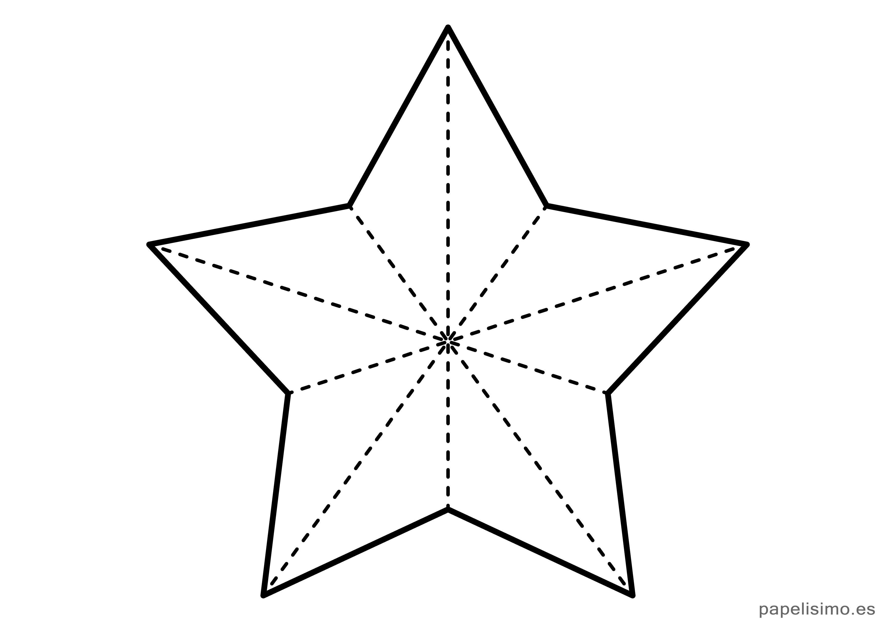Plantilla Estrella Cinco Puntas Navidad Grande