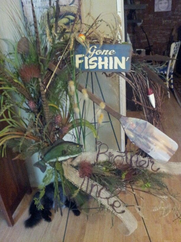 Gone Fishing Wreath Look What I Made Pinterest