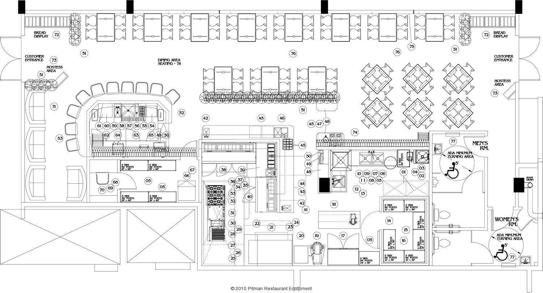 Free Restaurant Kitchen Design Layout   DECORKEUN