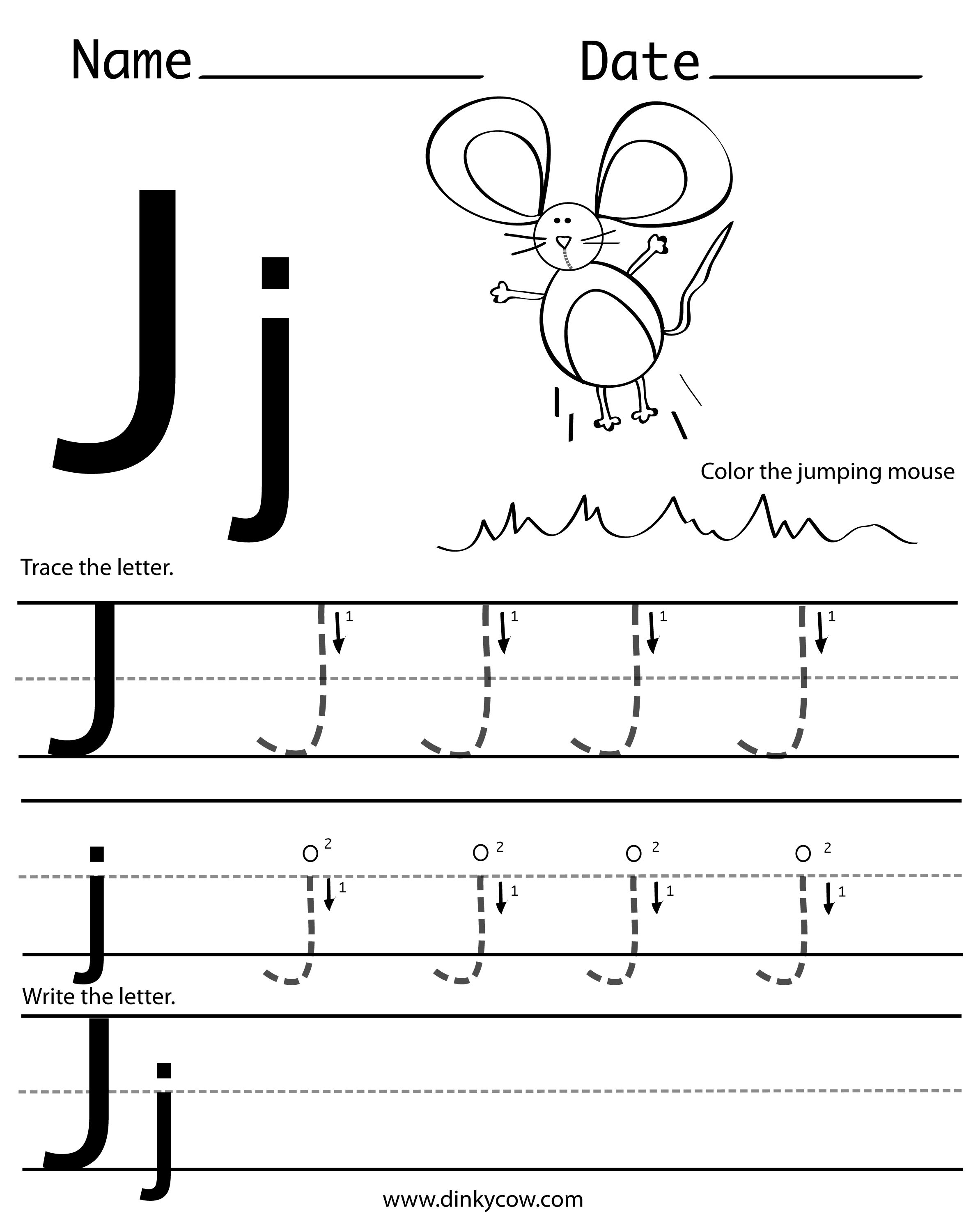 Letter J Halloween Worksheet