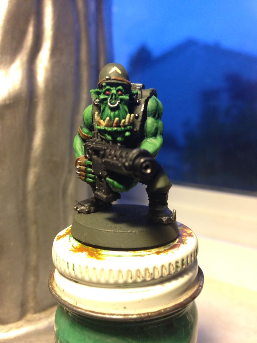 Photo of GI themed ork veteran