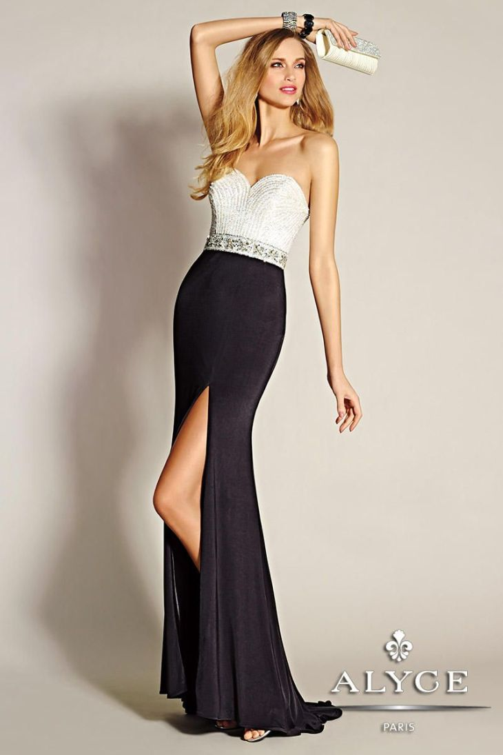 Black and White Prom dress Prom Pinterest Prom and Black