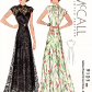 Mccall s evening gown vintage sewing pattern repro