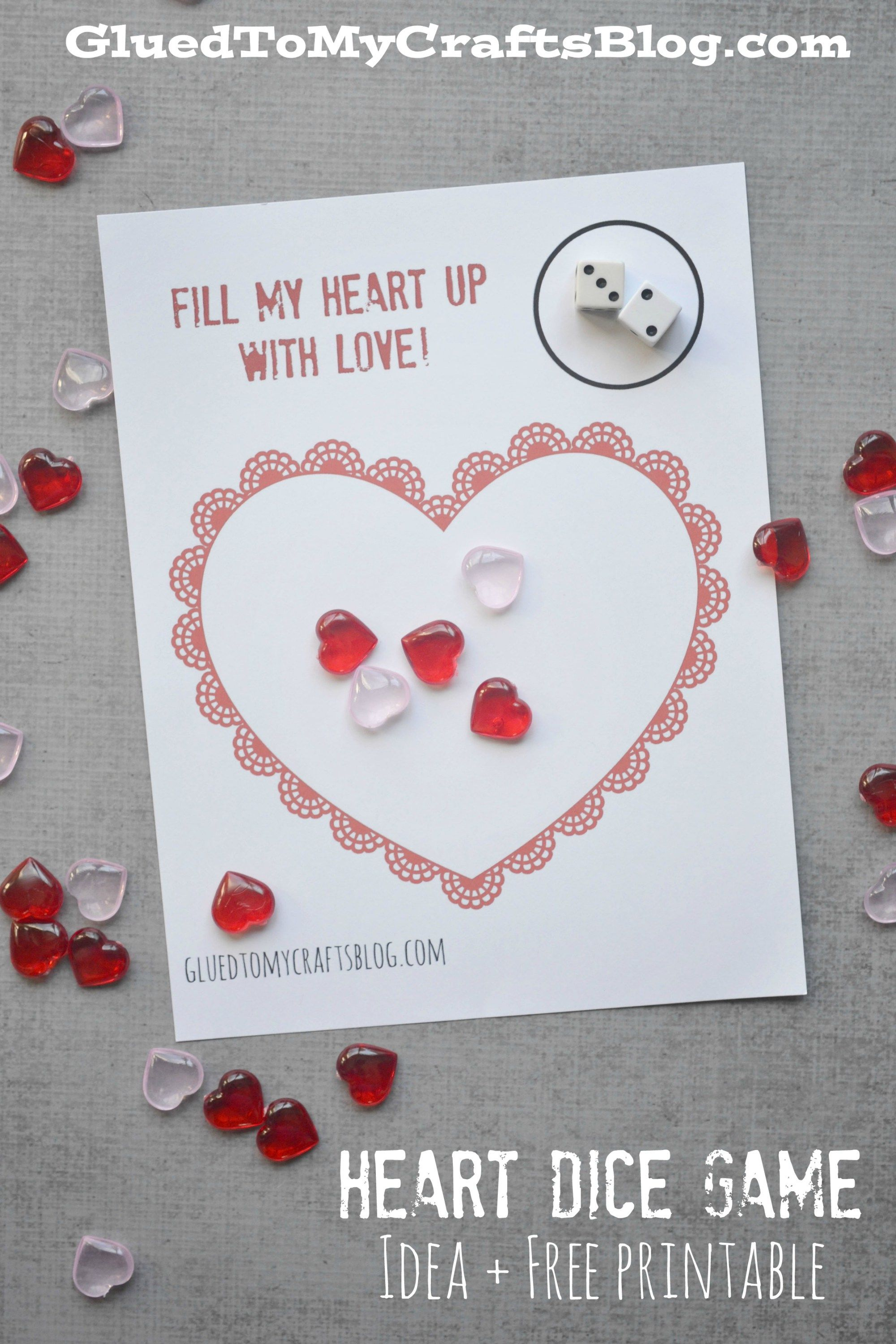 Heart Dice Game Free Printable
