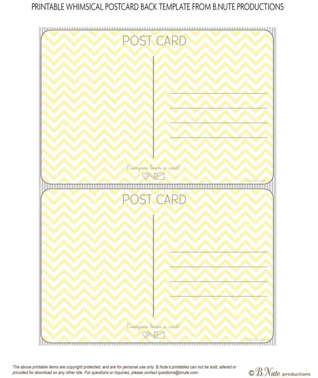 Free Printable Postcard Templates FREE DOWNLOAD - Postcard template free download