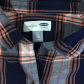 Navy blue flannel shirt womens  Old Navy Boyfriend Plaid Fall Flannel Shirt  Navy boyfriend Navy