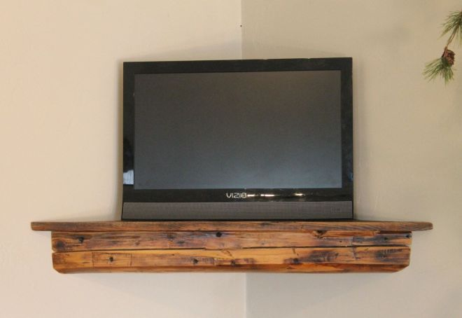C30 30 reclaimed barn beam pine corner shelf antique