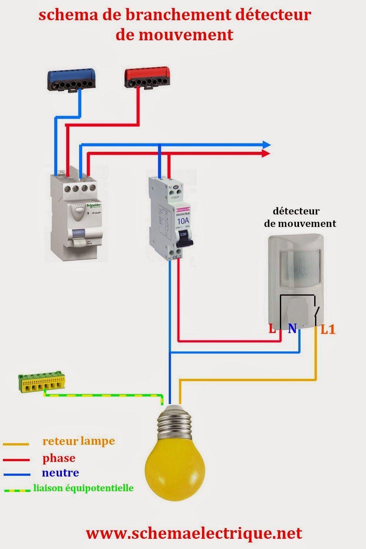 Schma Electrique Simple Dtecteur De Mouvement Schma