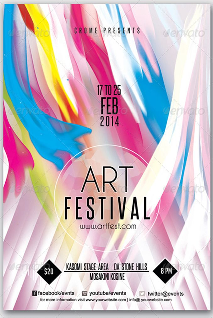 Flyer For Art Festival PSDFlyers Pinterest Art