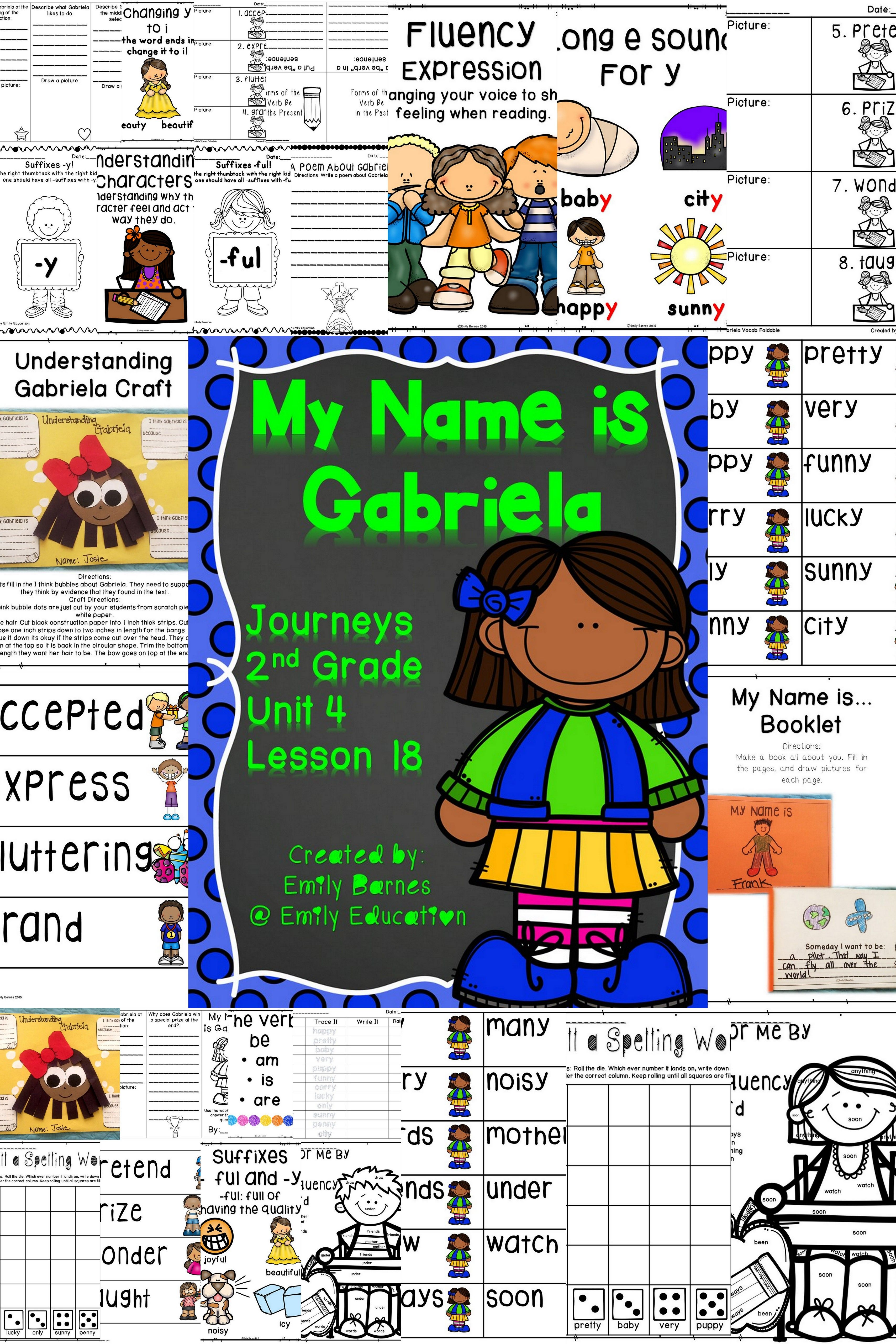 My Name Is Gabriela Activities Journeys 2nd Grade Lesson