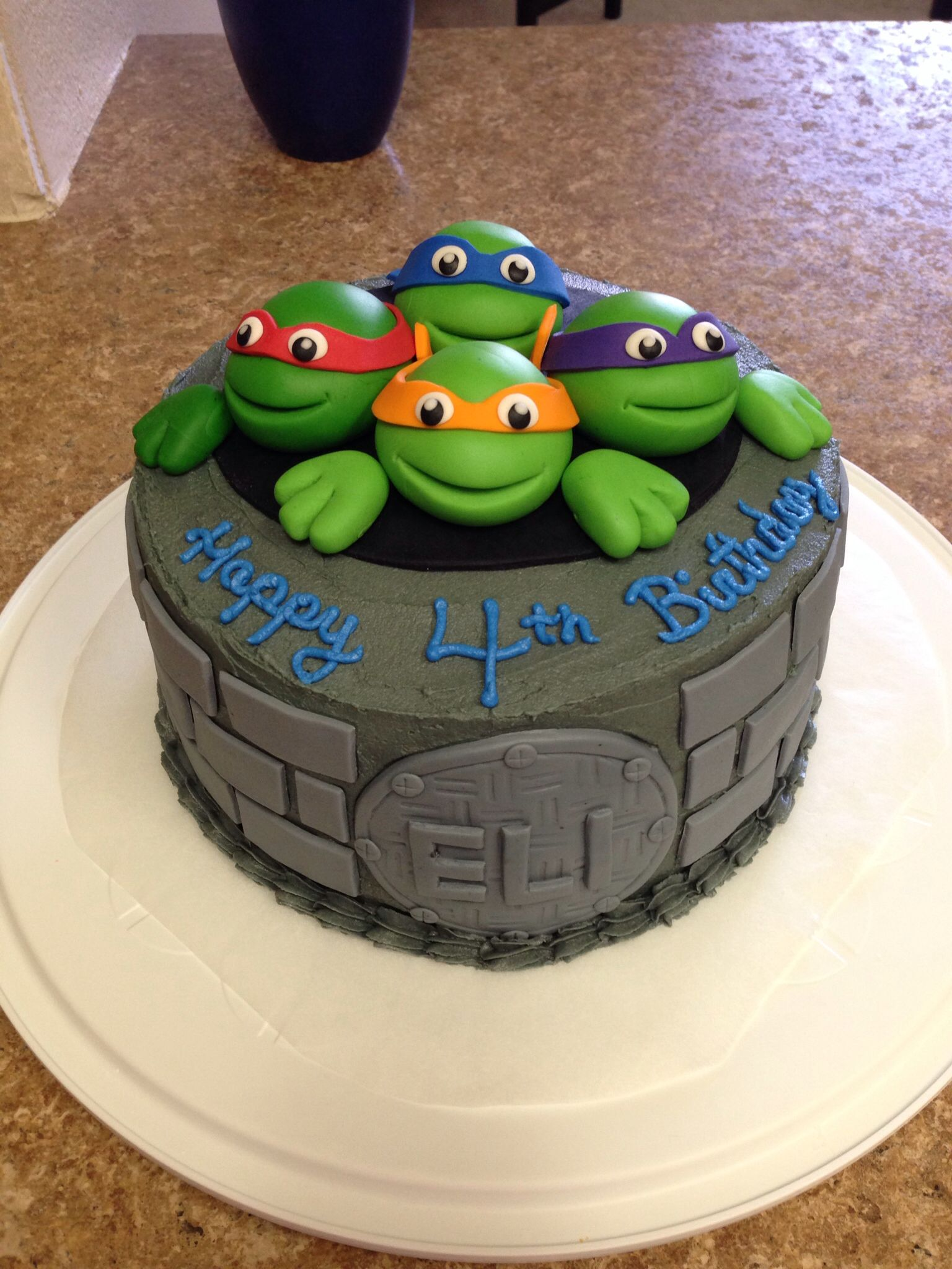 Tmnt Cake I Made For My Son S 4th Birthday I Used Fondant