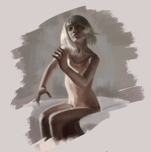 Study 2d Painting Drawing Warmup Woman Sia