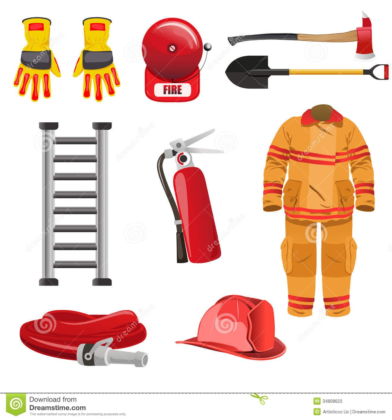 Firefighters Icons Stock Photos Image Zx8czb