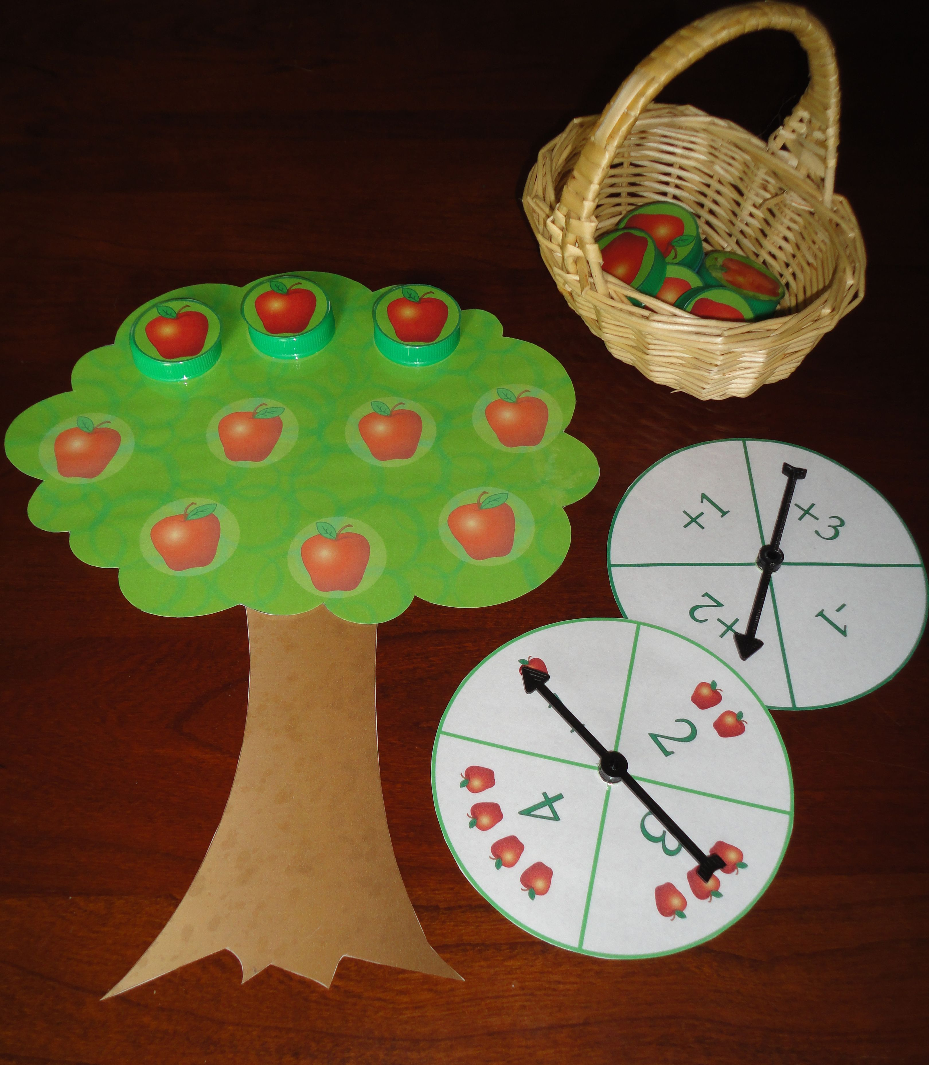 Apple Tree Count Apple Themed Math Game For Preschool And Kindergarten Great For Fall And Back