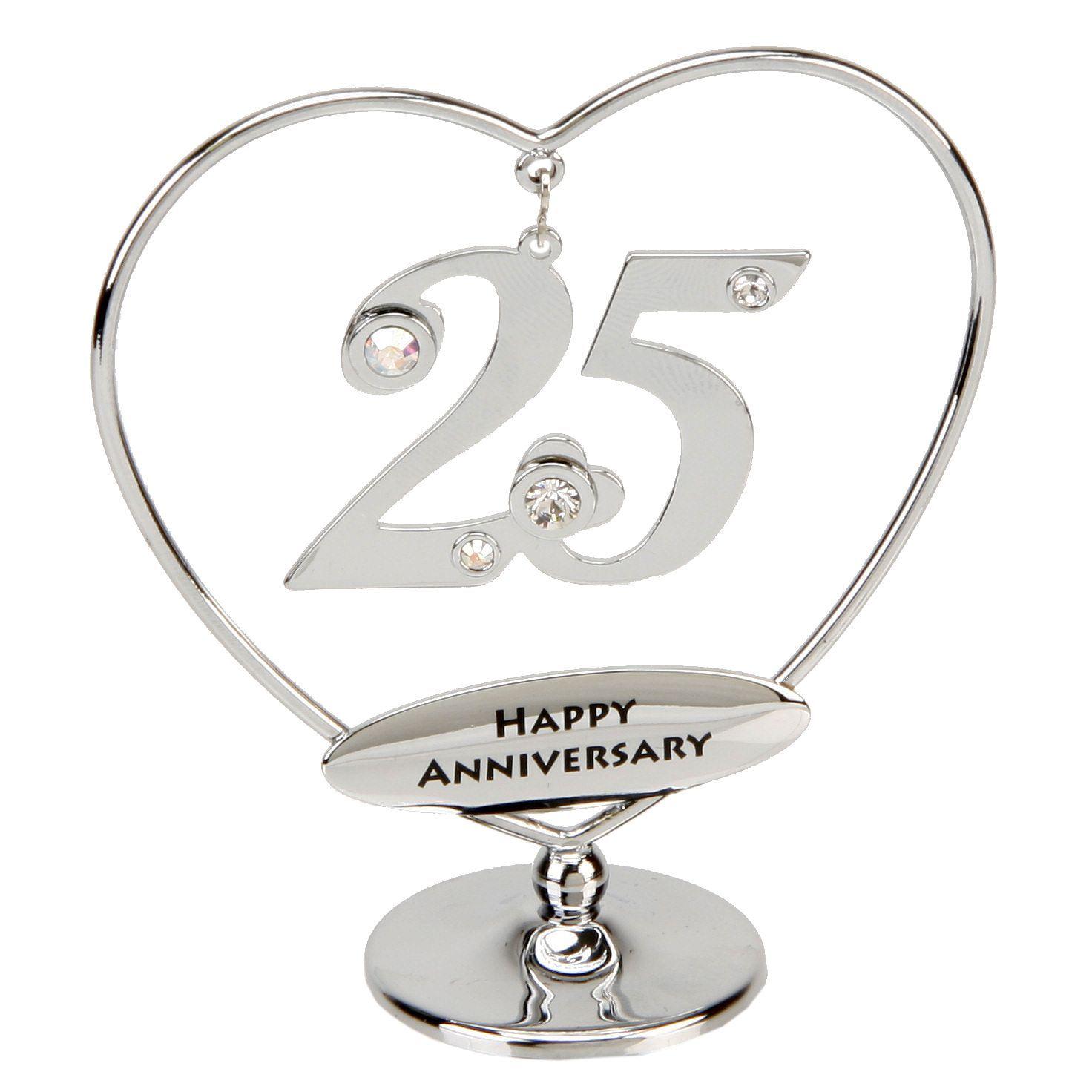 25th Anniversary Cake Topper 25th Silver Anniversary