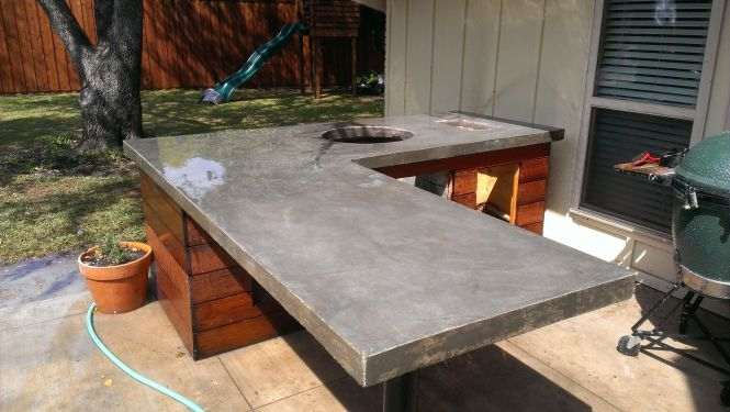 Outdoor Concrete Countertop Sealer - BSTCountertops