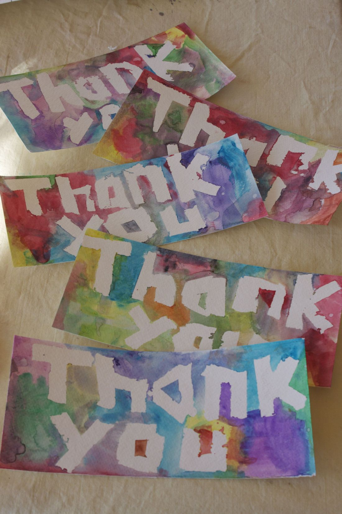 Easy watercolor thank you cards for kids lets make