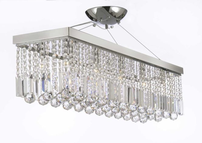 The Gallery Chandelier Light With Crystaldern Rain Drop Linear Pendant 10 Crystalighting Chrome Finish