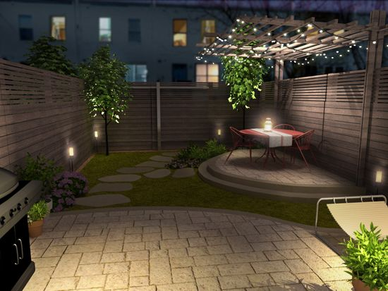Re-imagined into an urban oasis. See more before-and-after ... on Small Urban Patio Ideas  id=80029