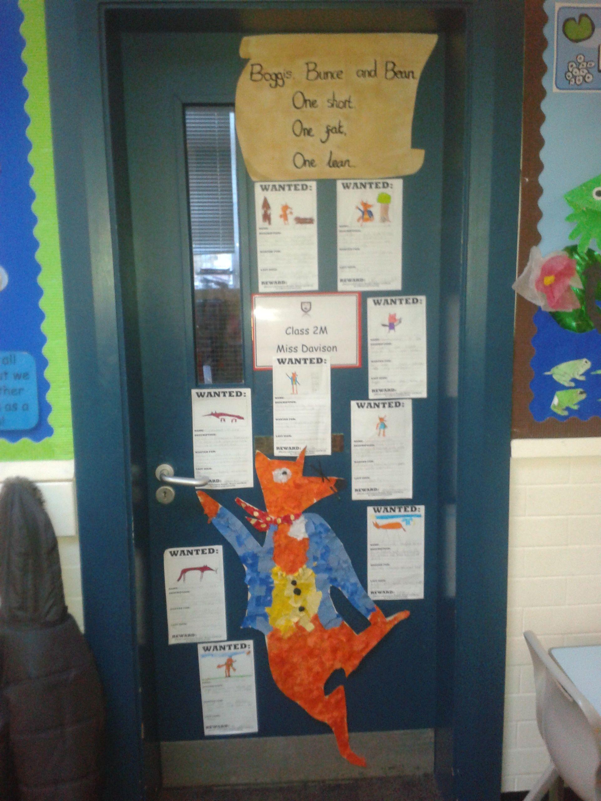Fantastic Mr Fox Door Display For World Book Day