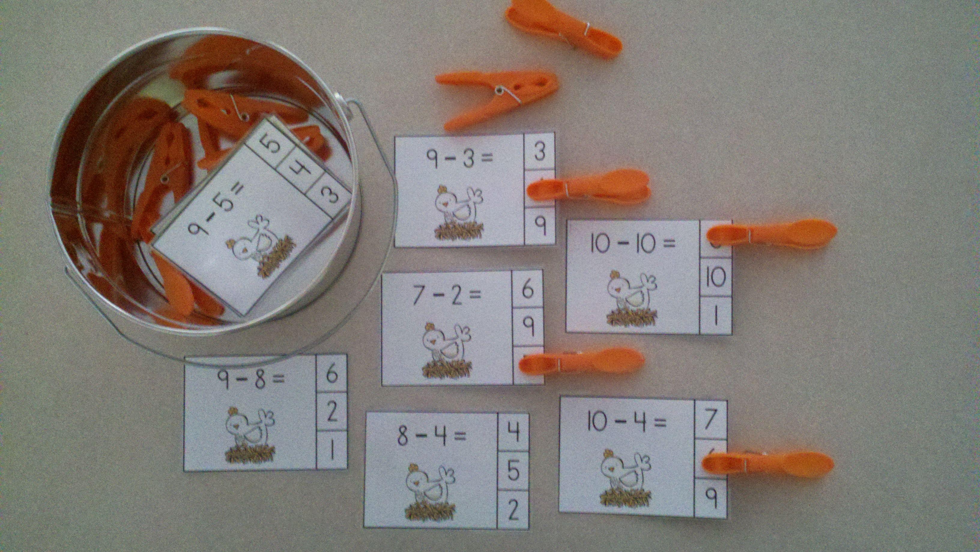 Farm Friends Subtraction Math Centers Minuends To 10