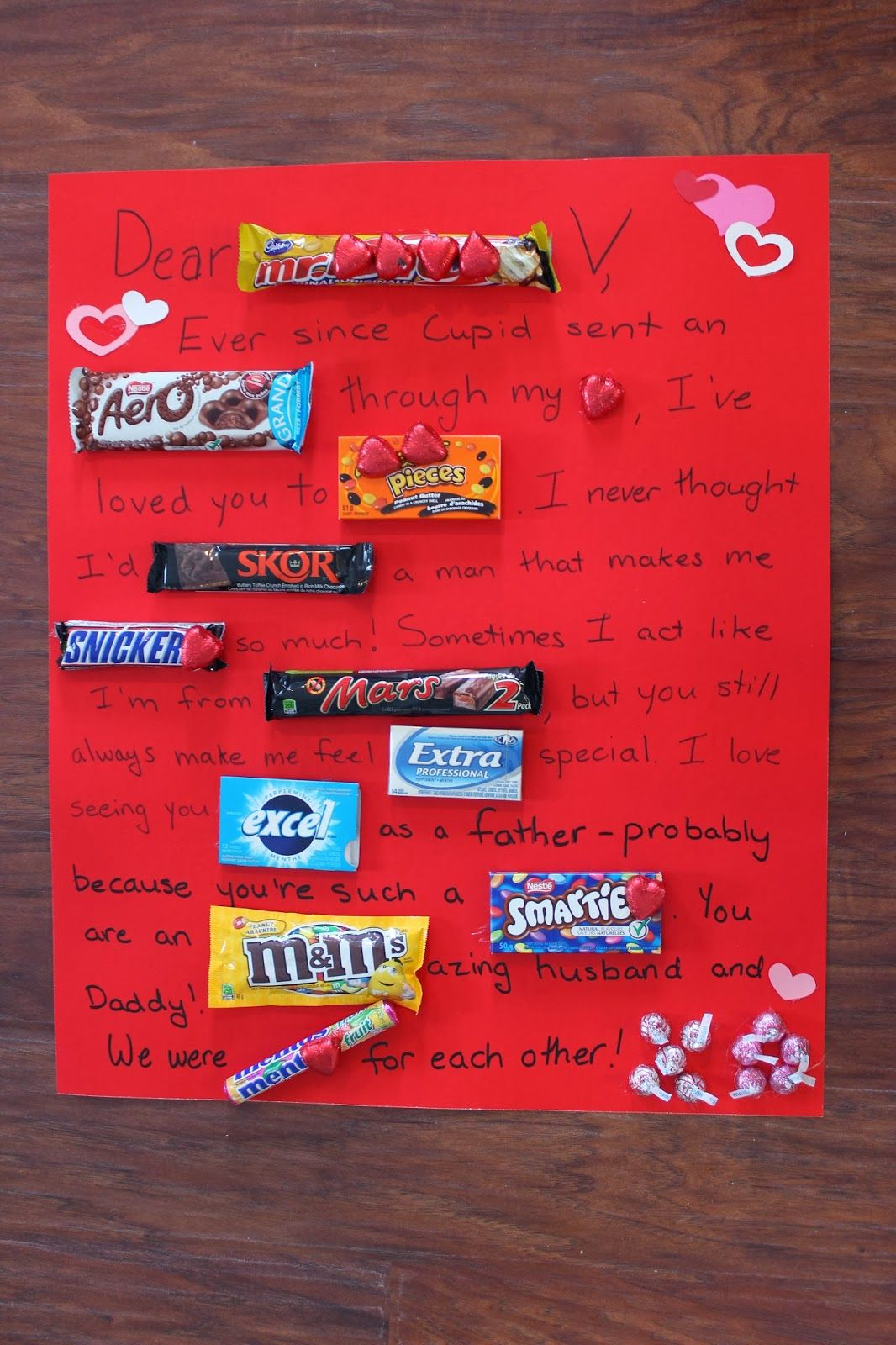 Chocolate Bar Letter Pinteres