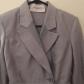 Jill stuart cropped jacket greyish blue cropped blazer and