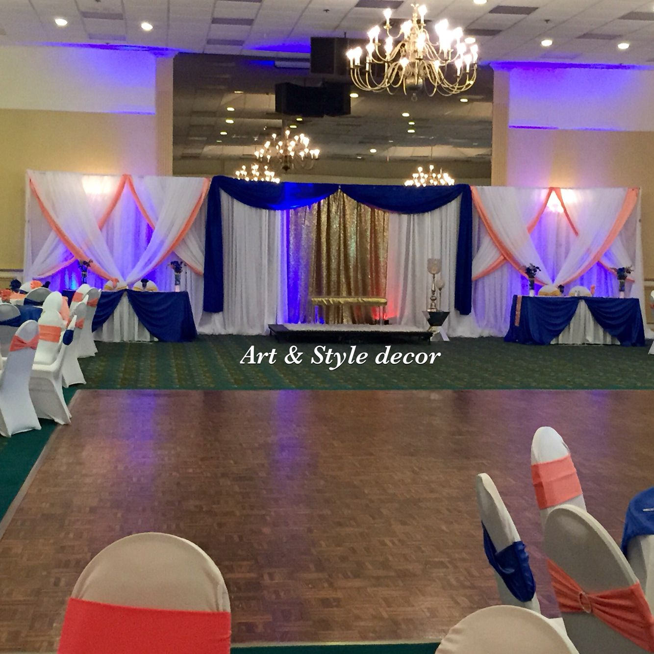 Royal Blue And Coral Wedding Decor Artandstyledecor