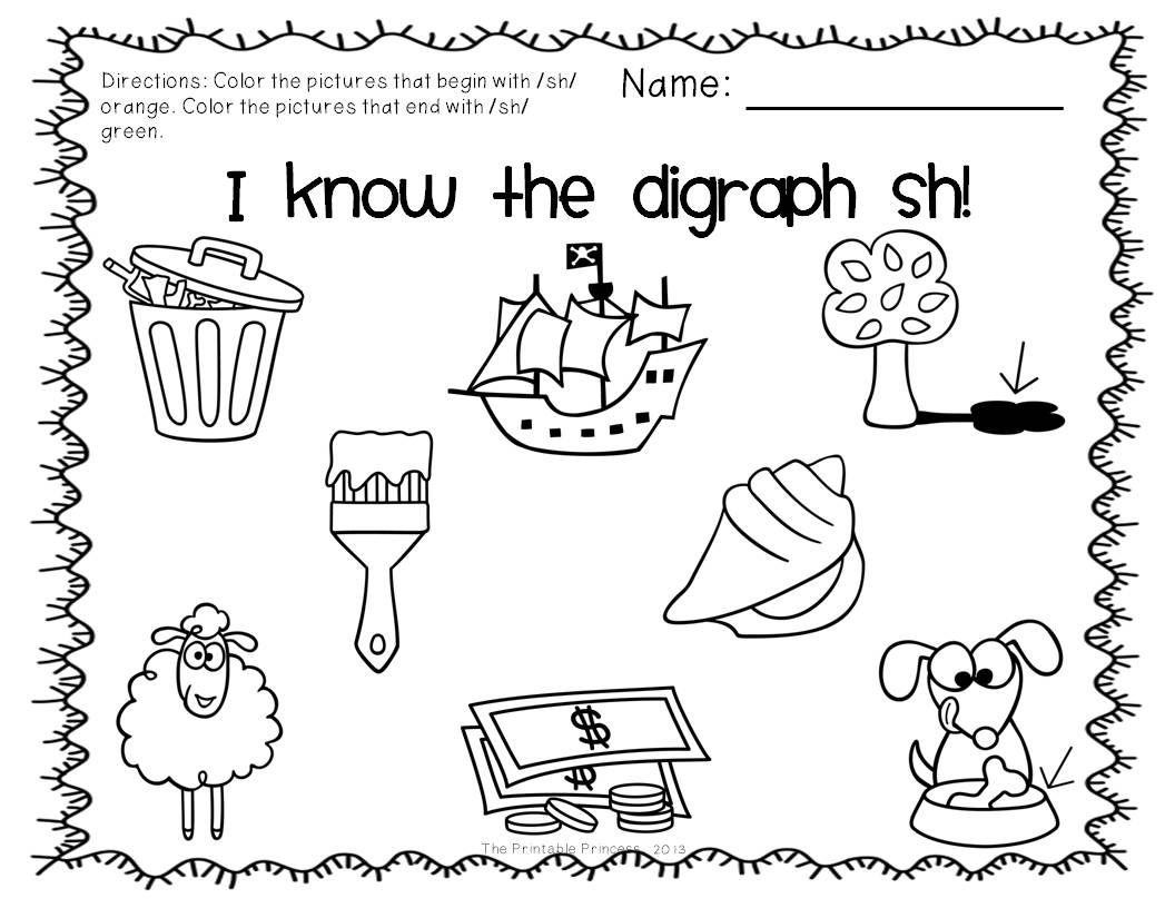 Digraphs Activities Centers And Practice Pages