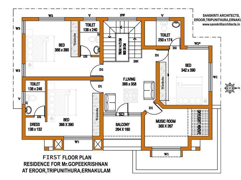 Kerala House Plans Estimate Sq Ft Home Design Information