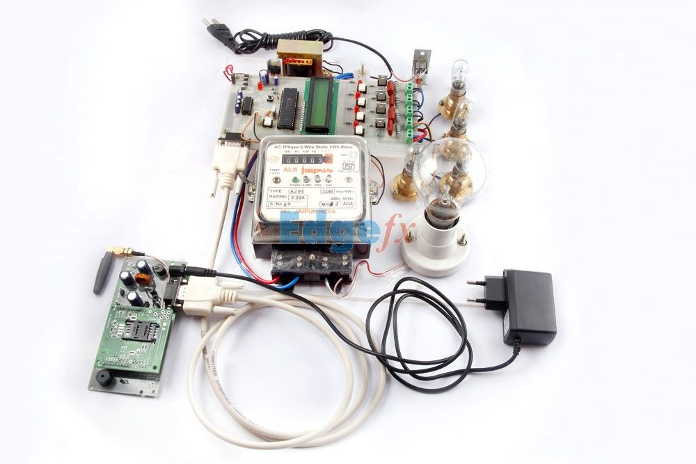 Gsm based energy meter reading with load control using pic