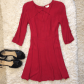 Urban outfitters red cut out key hole dress small urban outfitters