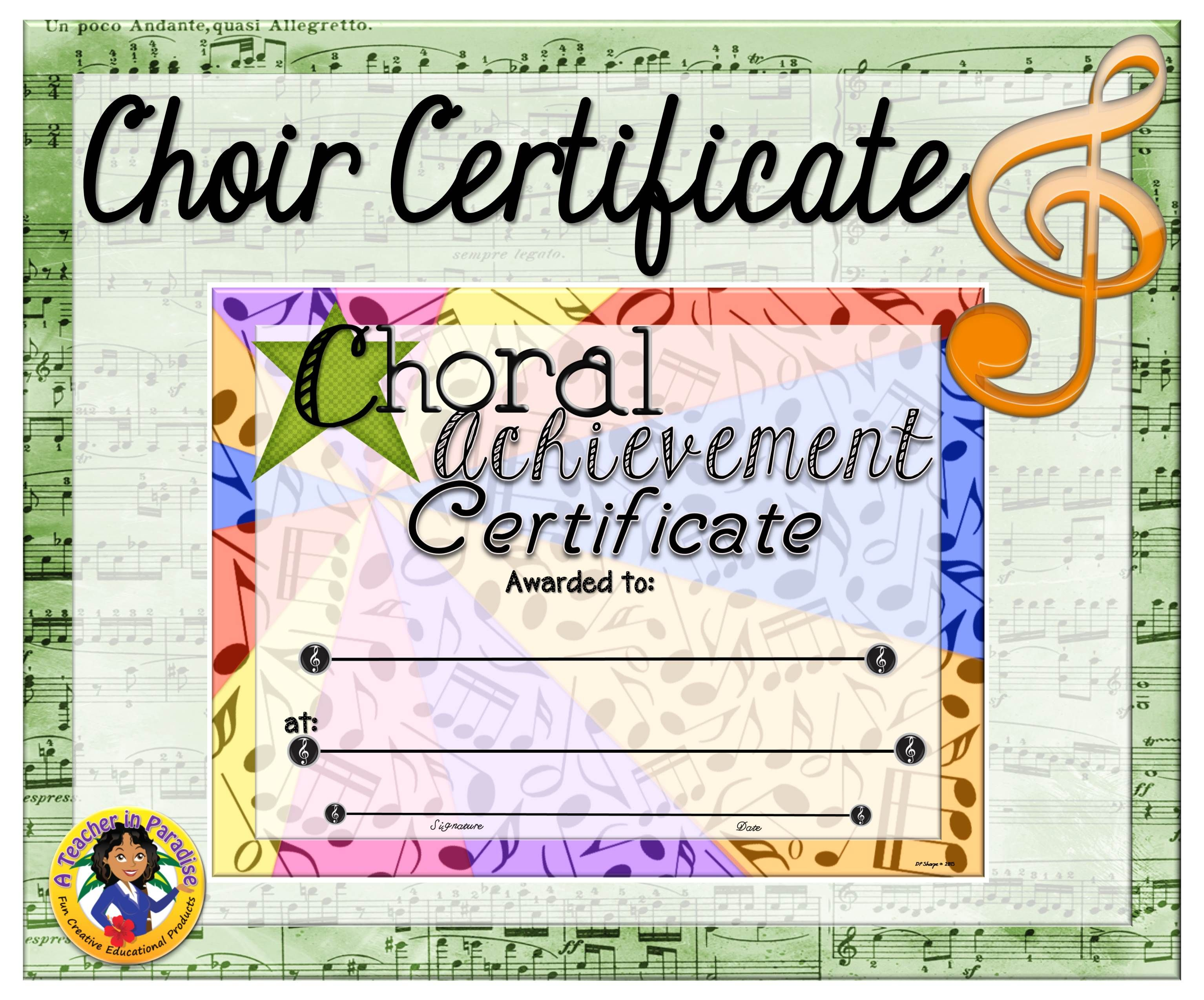 Choir Certificate 5