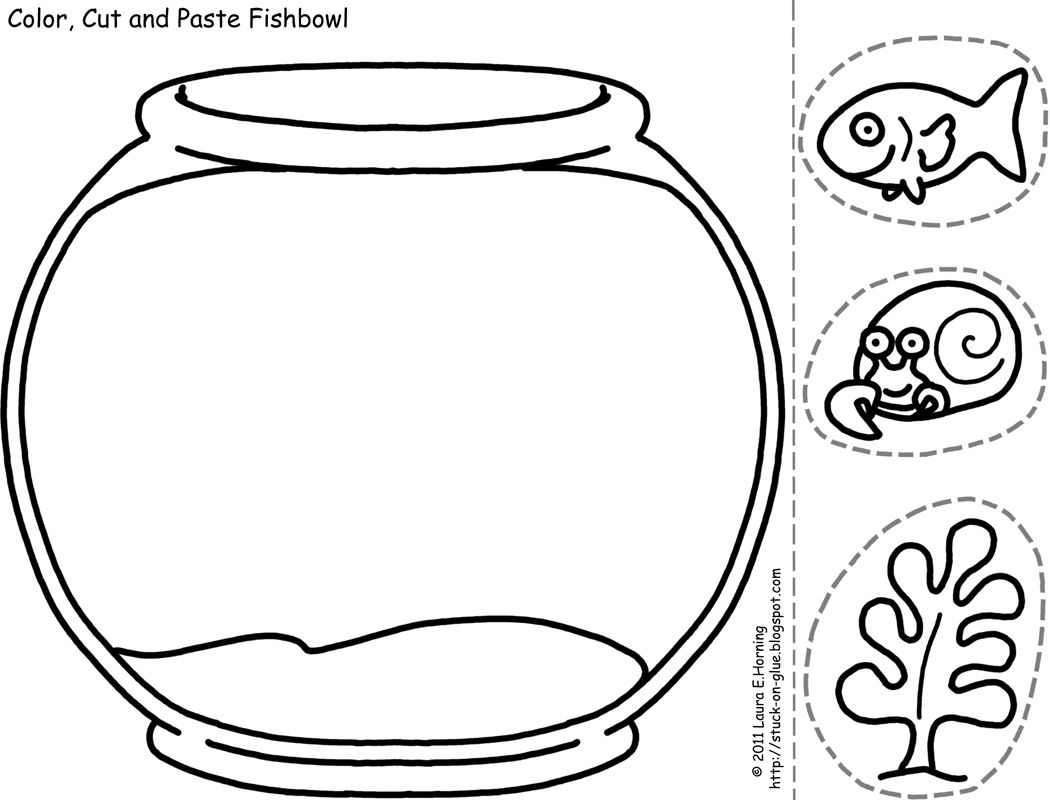 Cut Paste Coloring Sheets