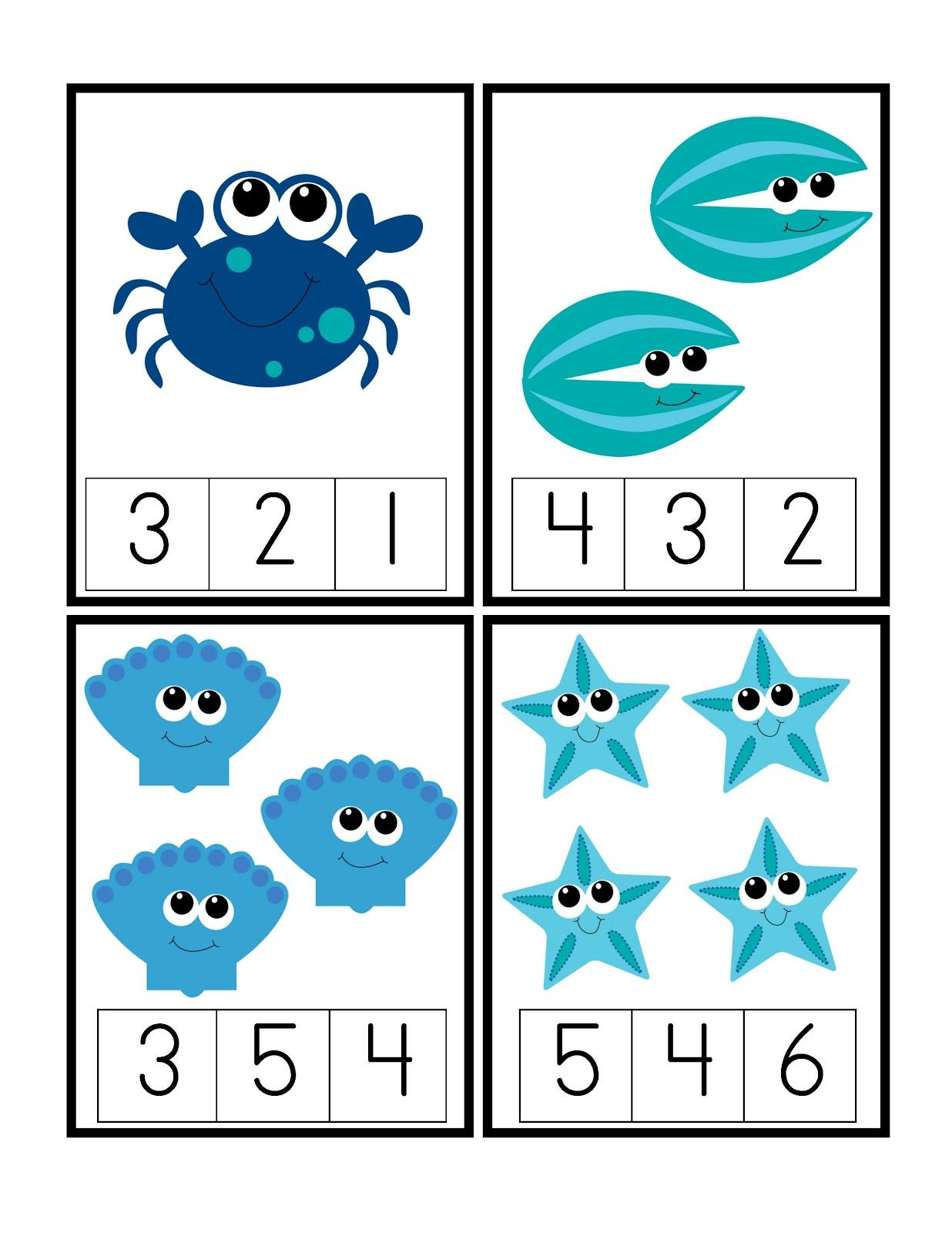 Preschool Printables Under The Deep Blue Sea Printable