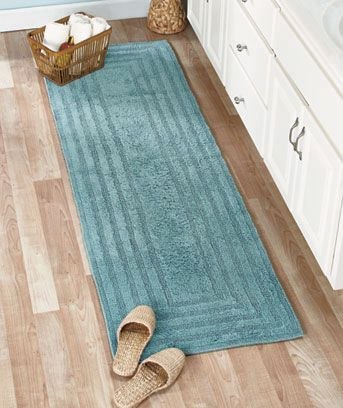 pamper your feet with a soft reversible cotton bath rug or 72