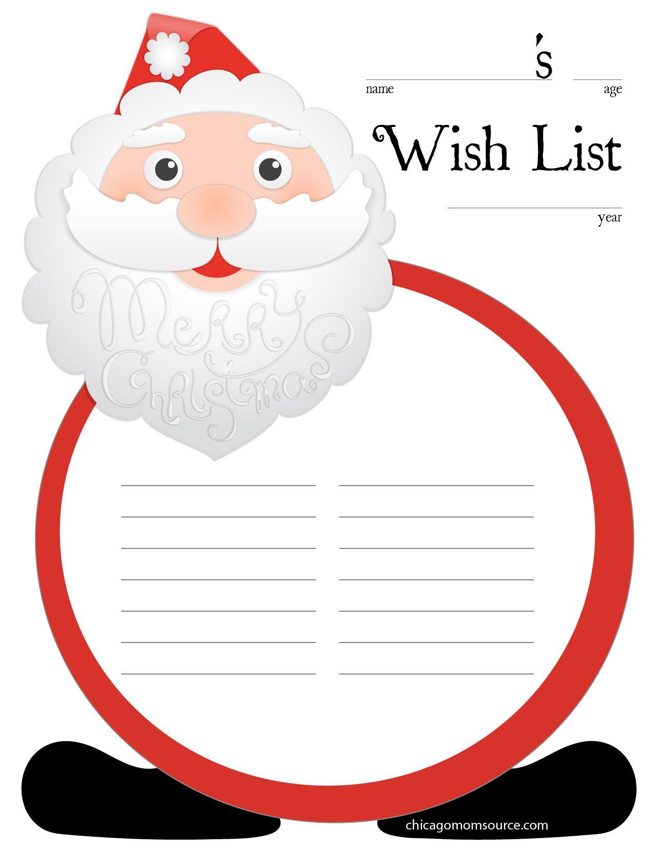 Icagomomsource Wish List Free Printable