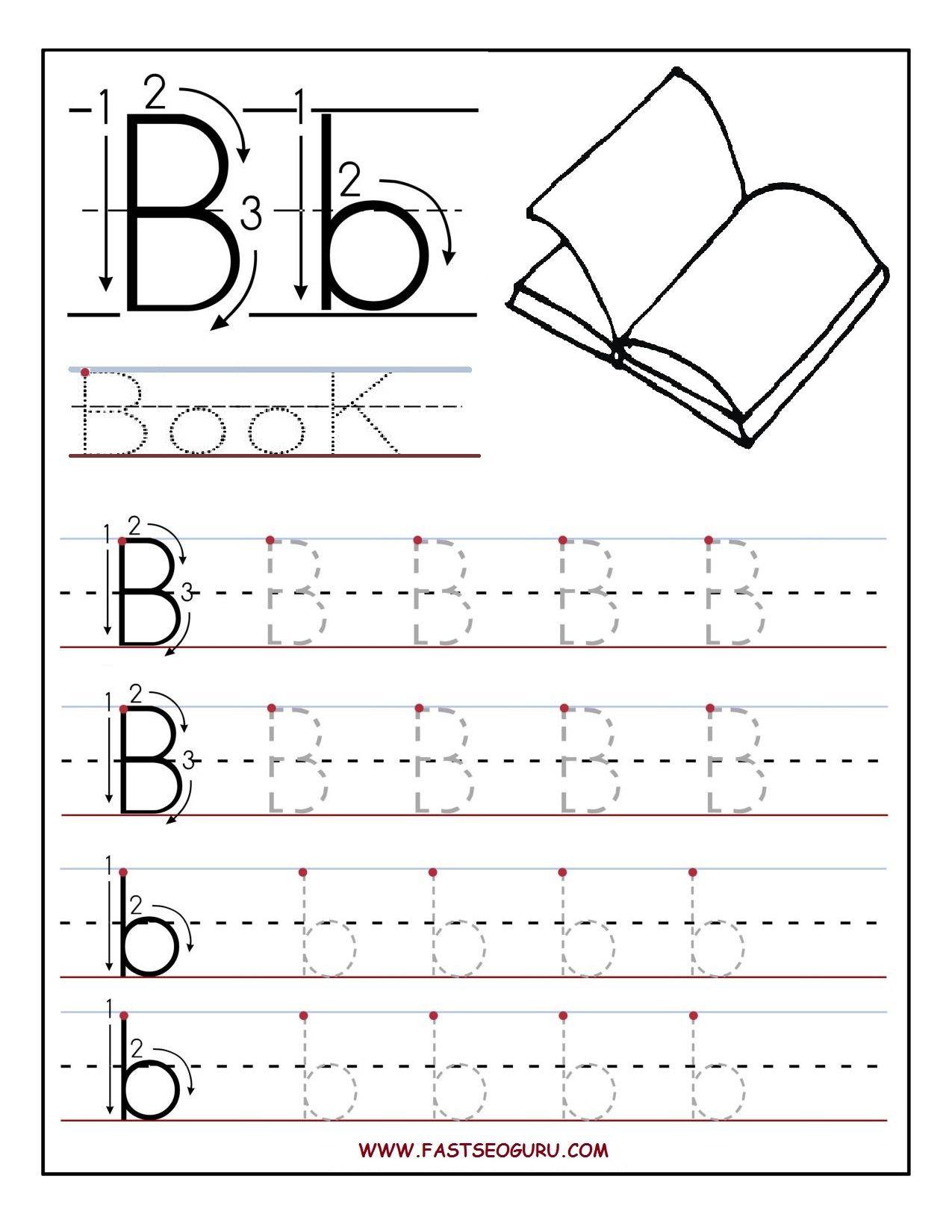 Letter B Worksheets For Preschoolers