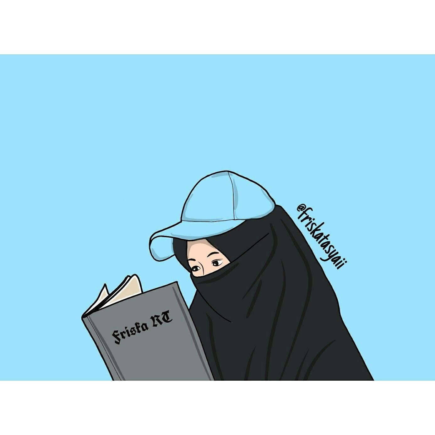 Gambar Kartun Muslimah Berhijab Cantik Bilik Wallpaper