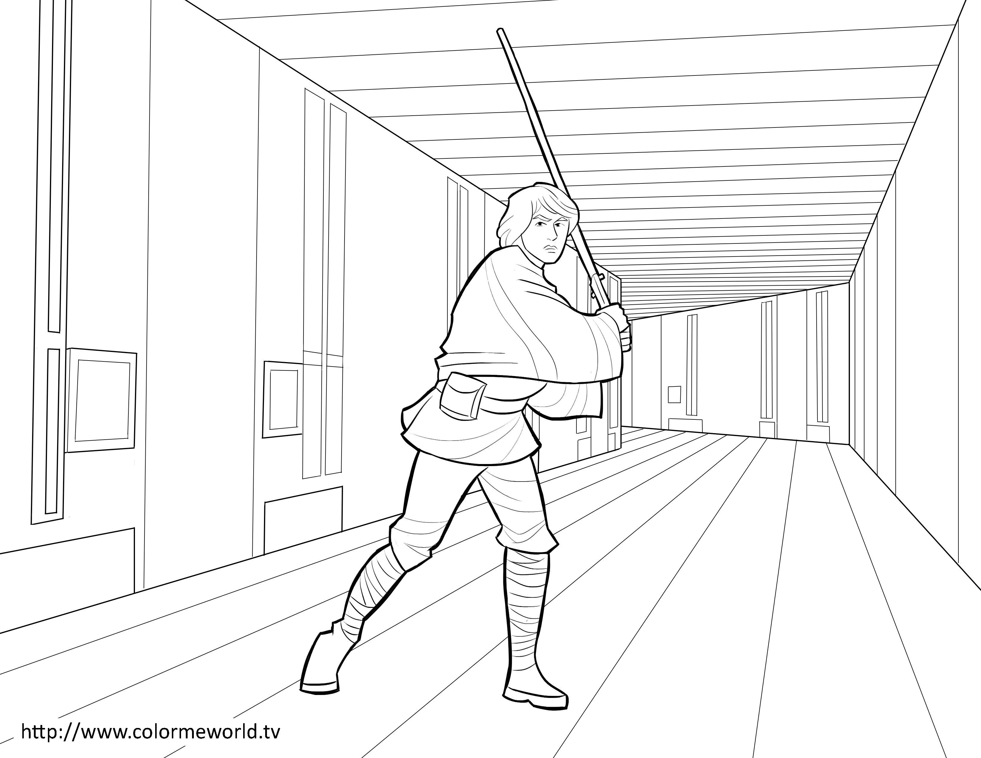 Luke Skywalker Coloring Pages Printable
