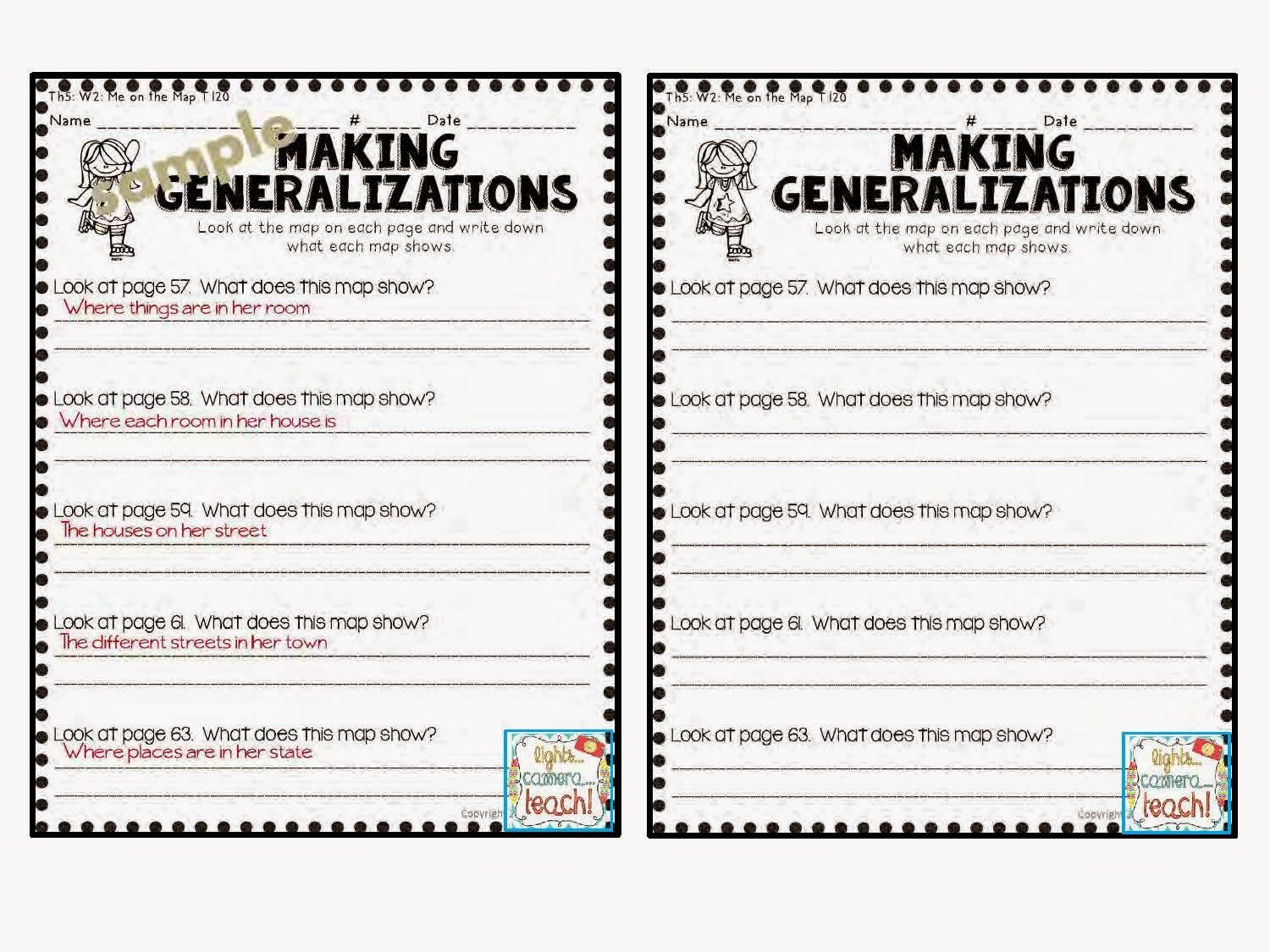 Making Generalizations Comprehension Skill This Resource Comes With Teacher Cheat Sheets Yay