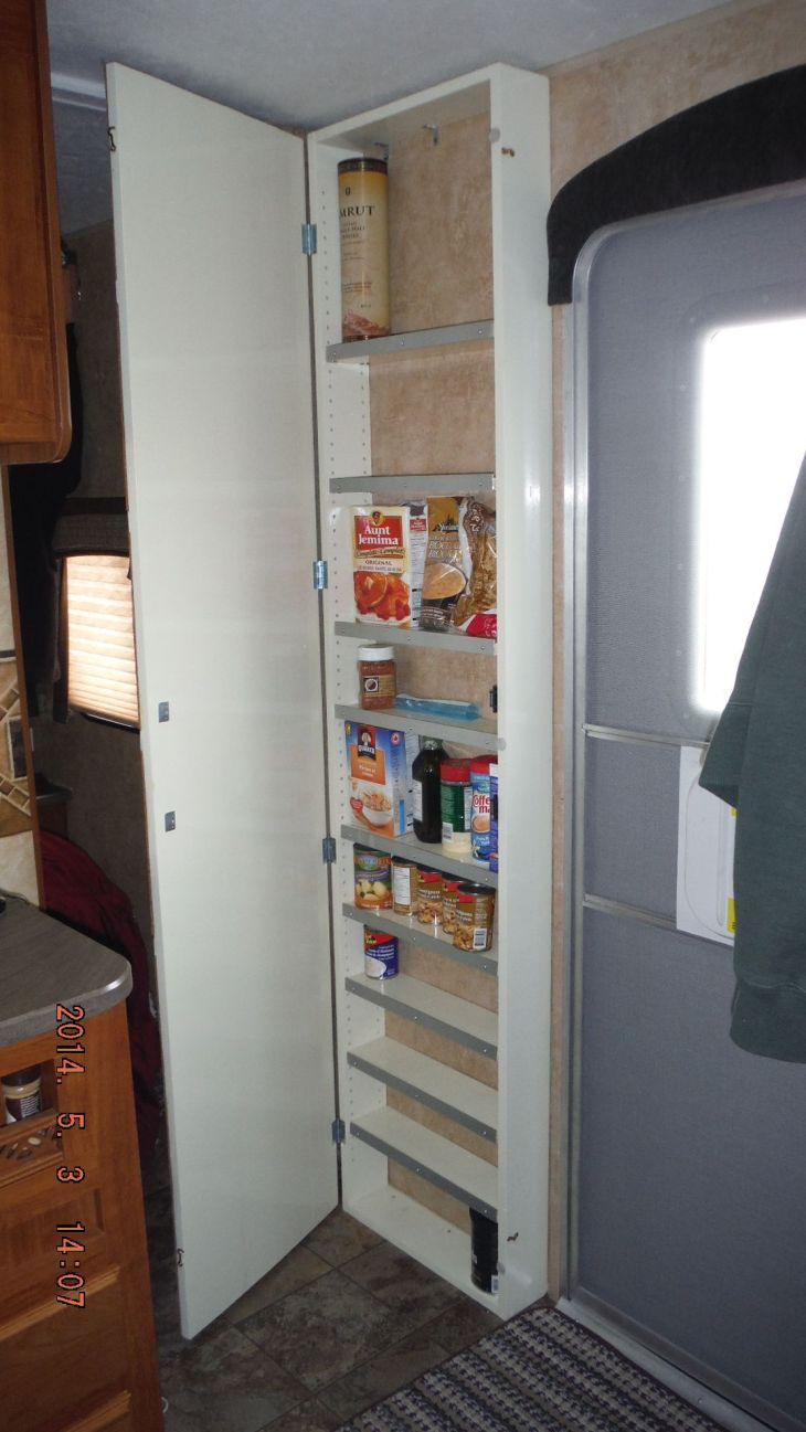 Installed a pantry cabinet today in some of the unused wall space of