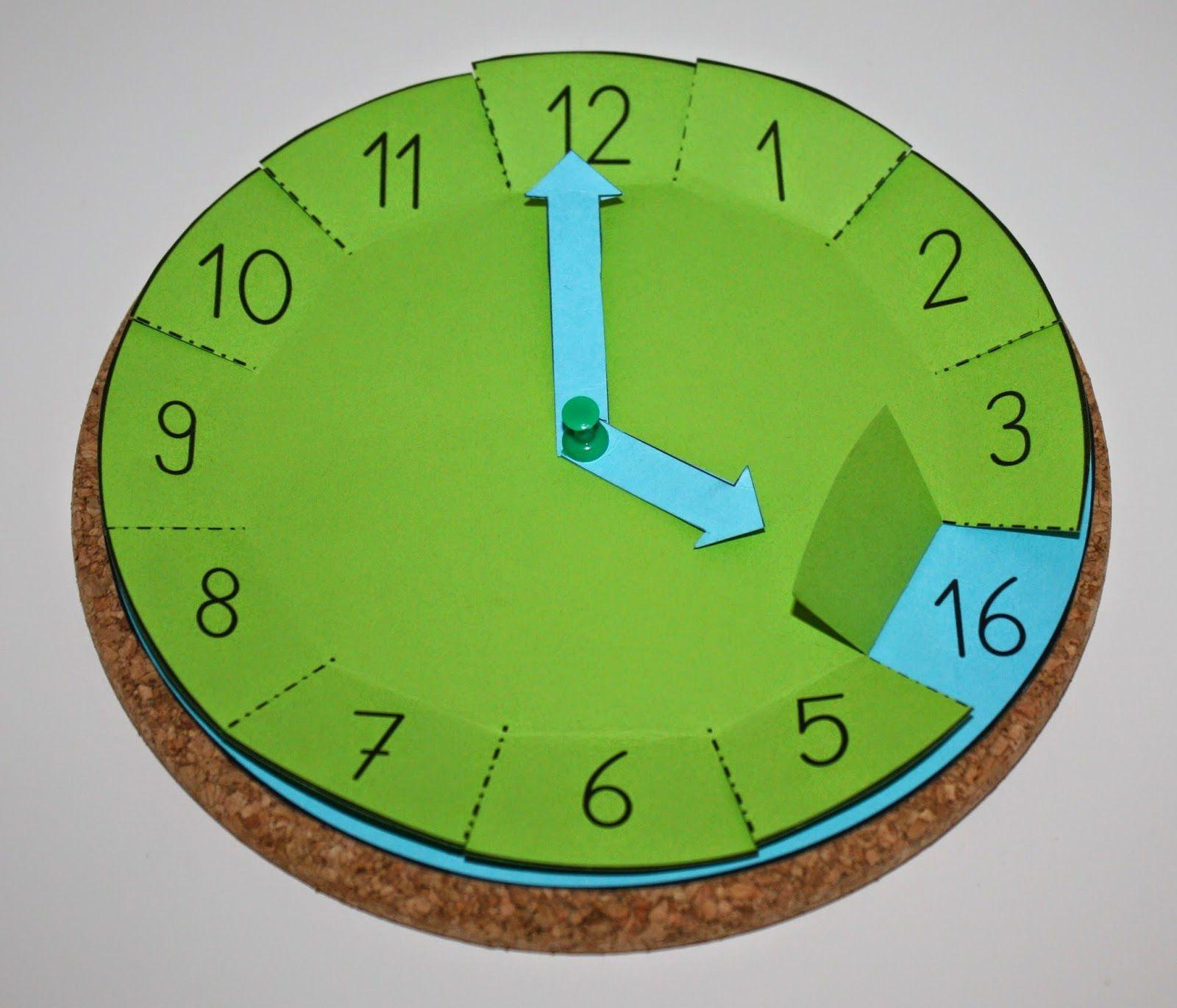 Klassenkunst 05 Bastelvorlage Uhr